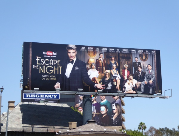 Escape the Night YouTube Red series billboard