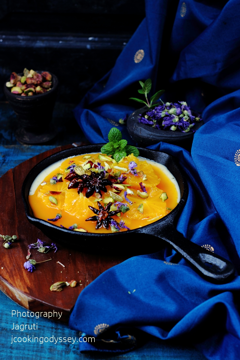 ... Baked Yogurt with Spiced Orange Syrup and Oven baked Butter nut squash