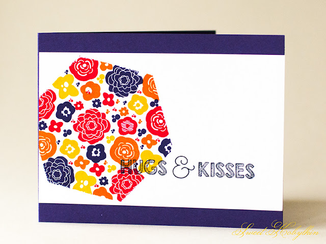 Greeting Card with Mini Blooms from Papertrey Ink by Sweet Kobylkin