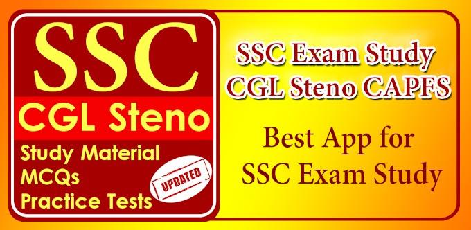 SSC Exam Preparation - CGL,Steno,CAPFS