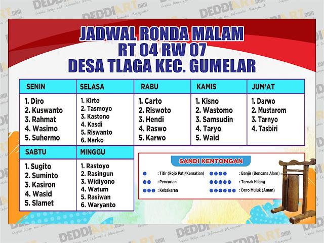 Download Contoh Desain Spanduk Jadwal Ronda Vector Cdr