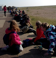 school visit to eastney beach