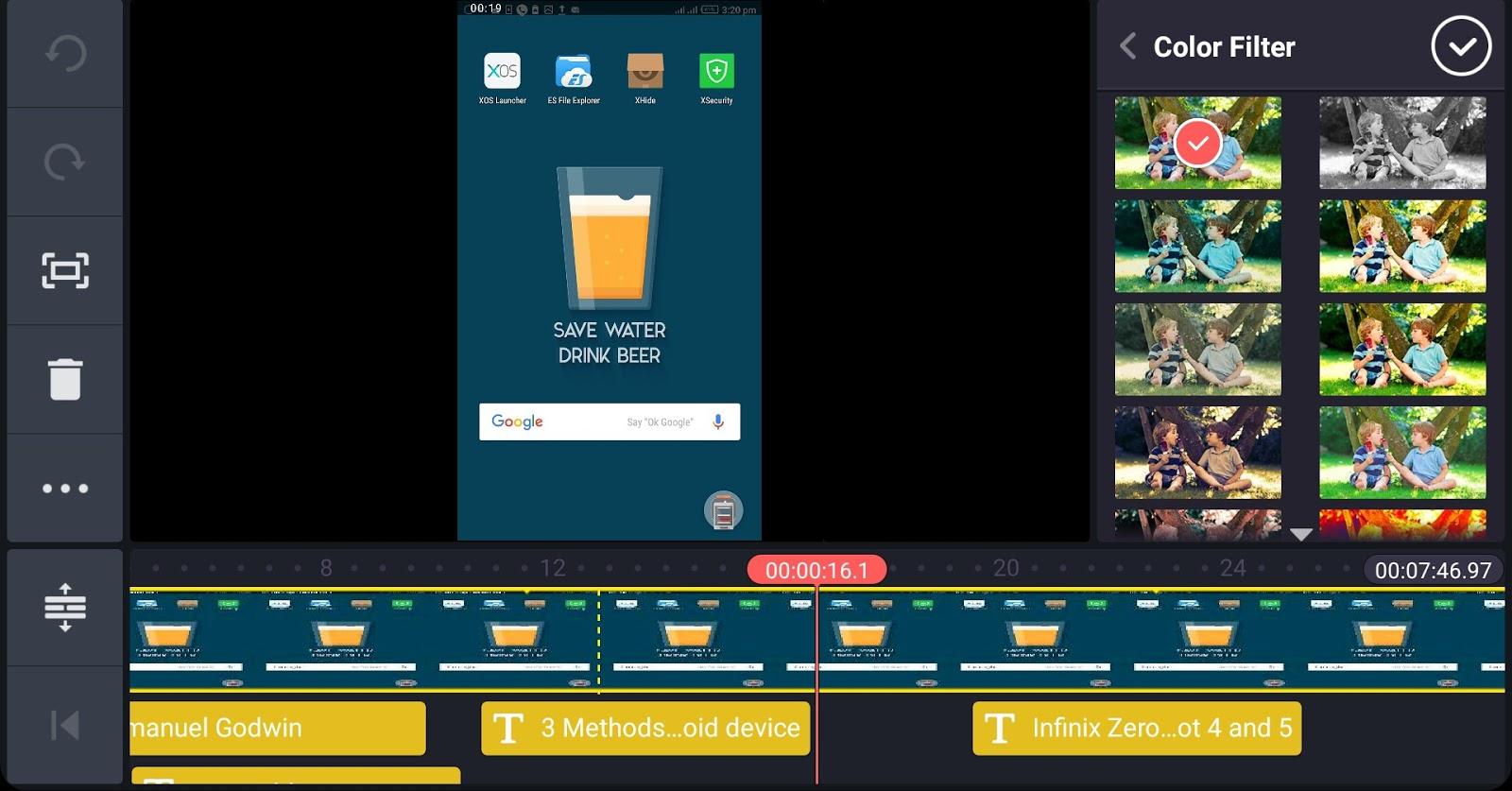 Kinesmaster video editor interface 04