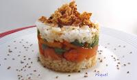 Salmón al Teriyaki con verduritas al dente y arroz