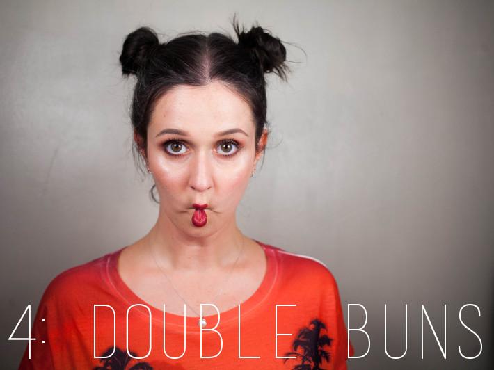Festival hair: double buns