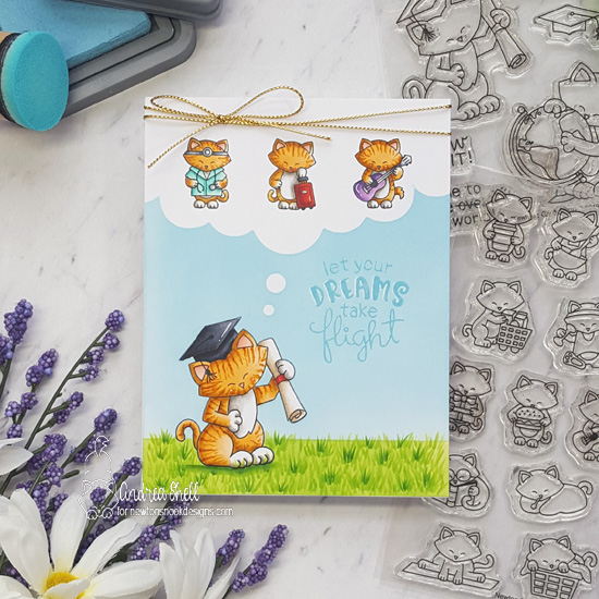 Let your Dreams Take Flight Card by Andrea Shell | Newton's Graduation, Newton Makes Plans and Uplifting Wishes Stamp Sets by Newton's Nook Designs #newtonsnook #handmade