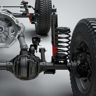 2017 Jeep Wrangler Rubicon Military-Inspired Dana 44 Front Axle