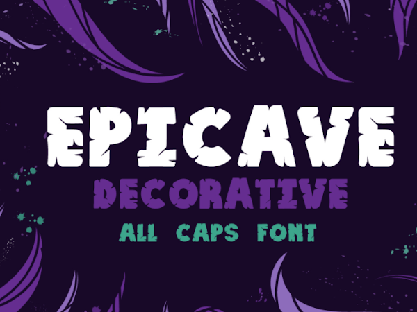 Download Epicave All Caps Display Font Free