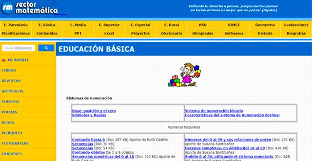 Aprende matemática básica online con sectormatemática.cl