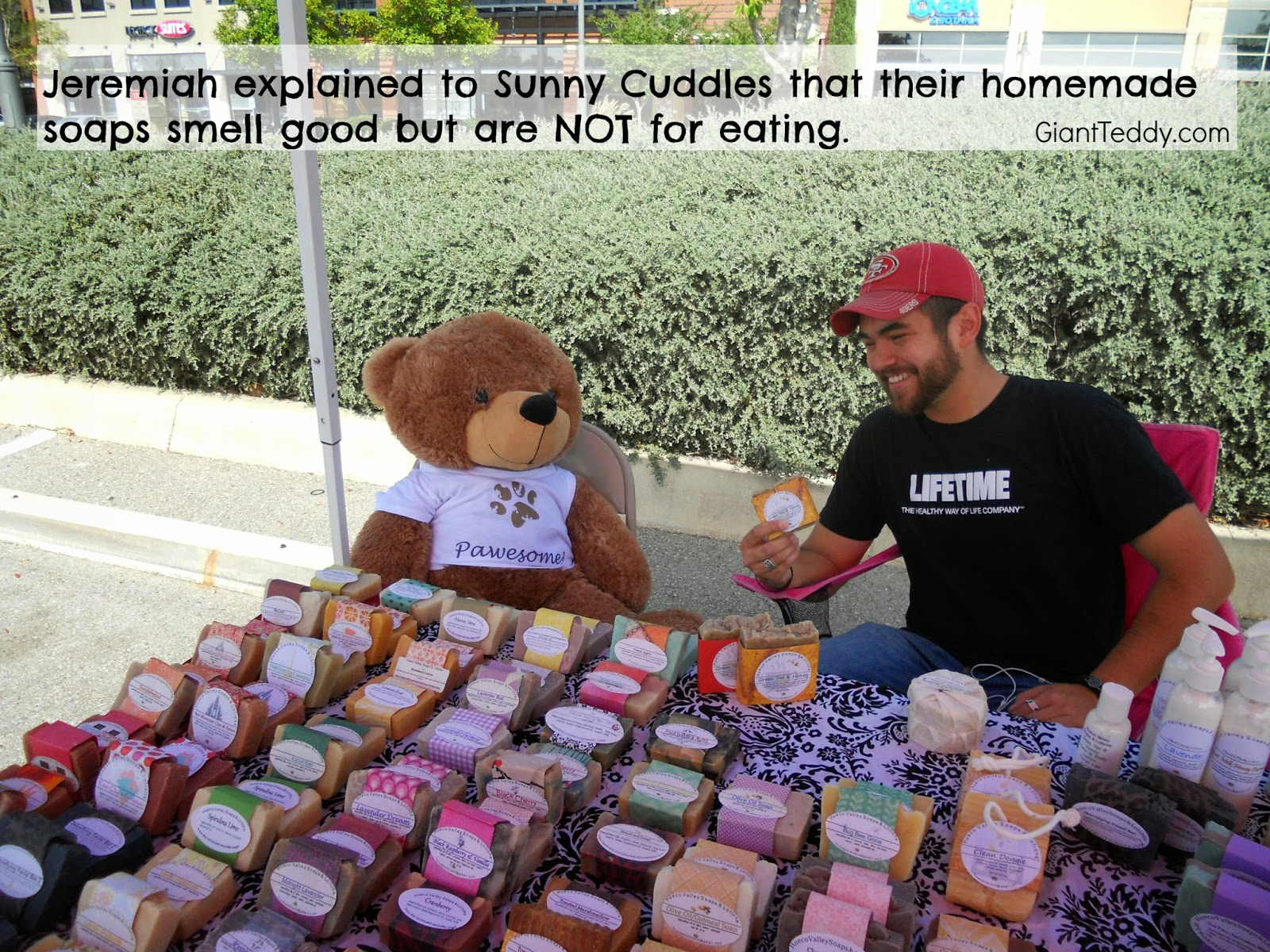 Giant Teddy bears might like a honey sugar scrub