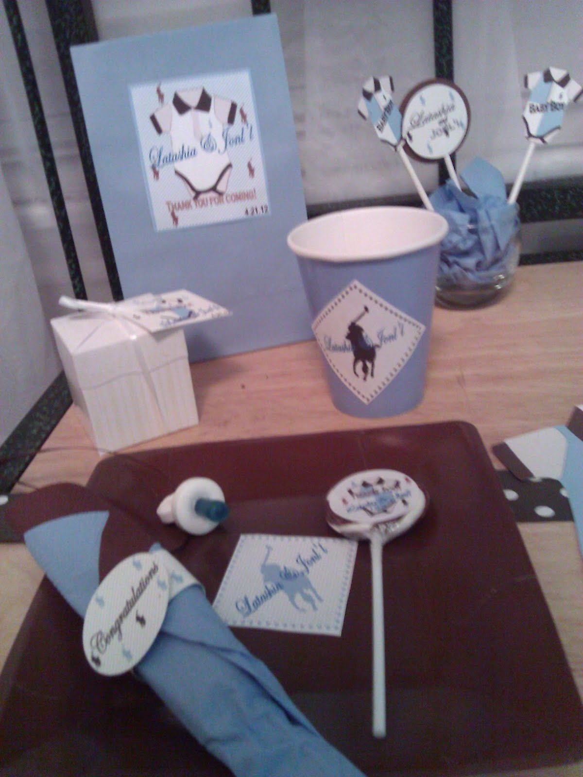 Solutions...Event Design by Kelly: Polo Brown and Blue ...
