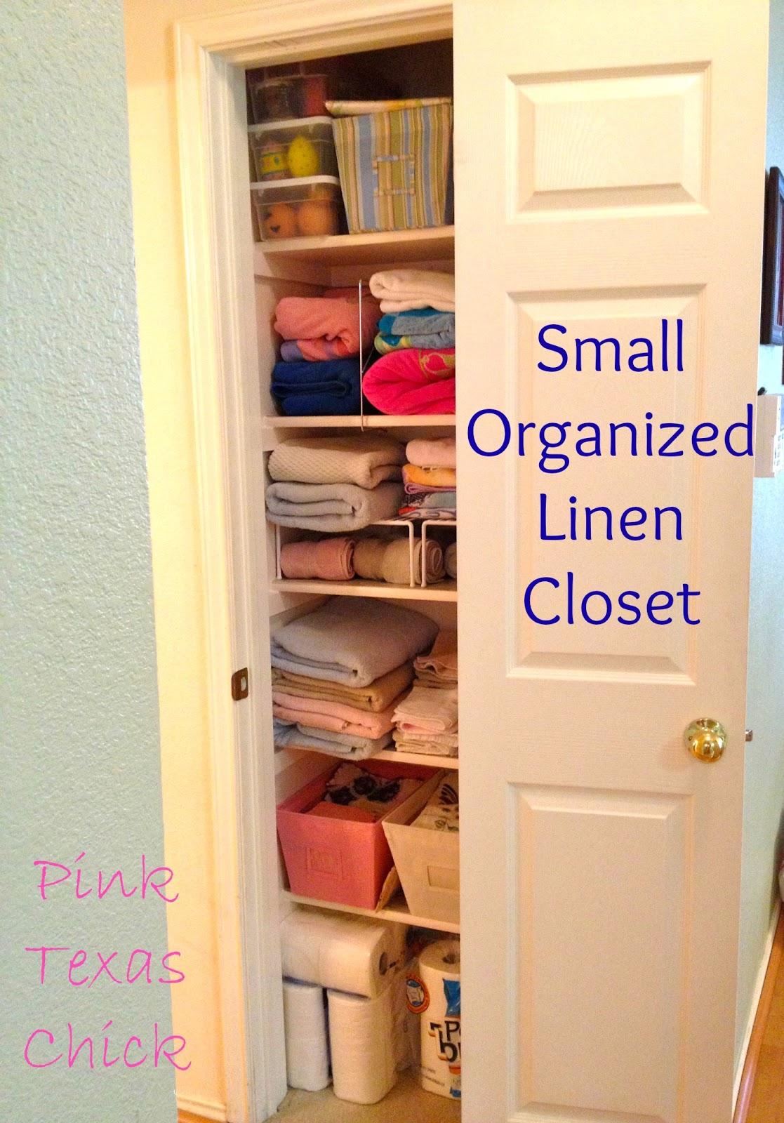 Pink Texas Chick: Organized Linen Closet... Finally!