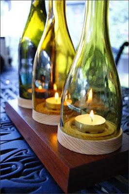 DIY velas vidrio