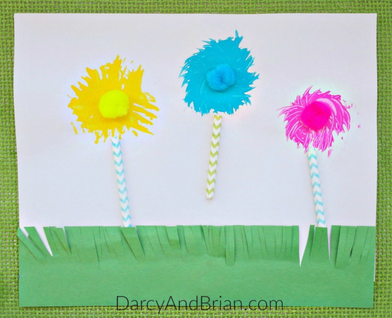 Dr Seuss Activities for Toddlers - Truffula tree craft