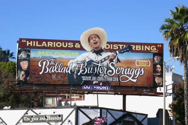 Ballad of Buster Scruggs consideration billboard