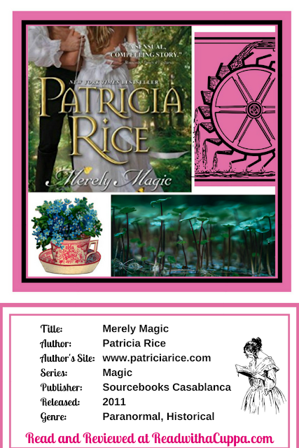 Read the book review for Merely Magic by Patricia Rice at https://www.readwithacuppa.com/2018/07/book-review-merely-magic-patricia-rice.html