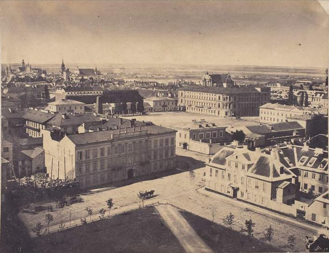 Old Photographs of Warsaw Poland ca 1850s  vintage
