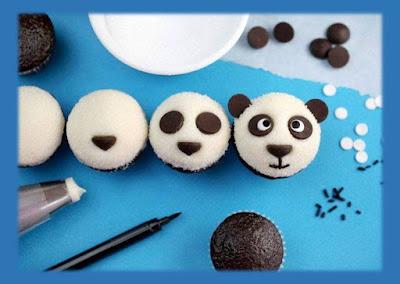 Cara membuat cupcake panda bear untuk acara ulang tahun