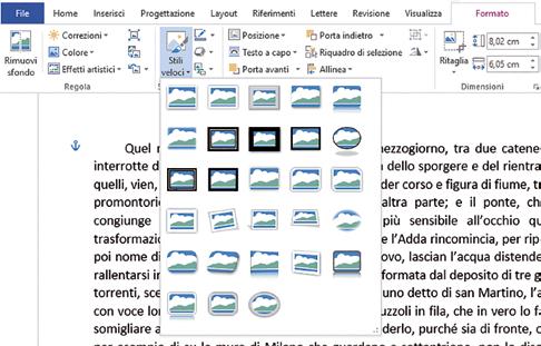 Come spostare l'immagine in documenti word