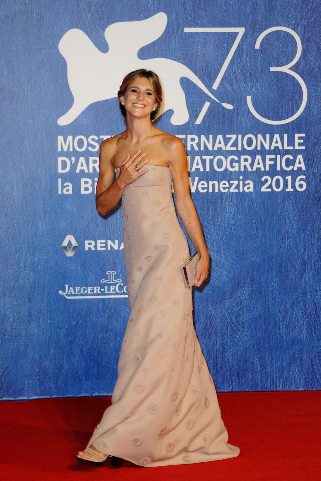 Nicoletta Romanoff at Franca Chaos and Creation Premiere at 2016 73rd Venice Film Festival