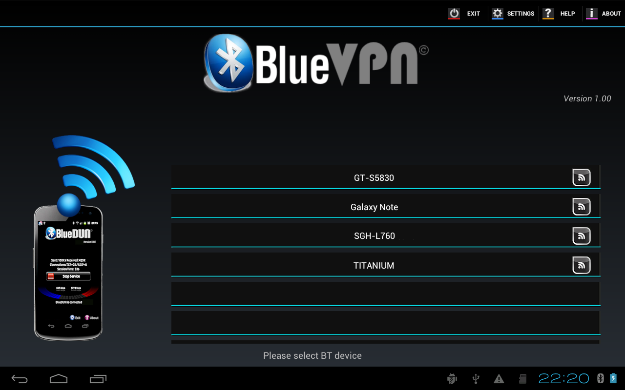 BlueDUN / BlueVPN: BlueVPN+, connect your Android device to internet