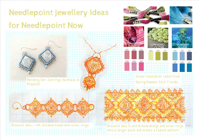 Jewelry design ideas for needlepoint now and colours