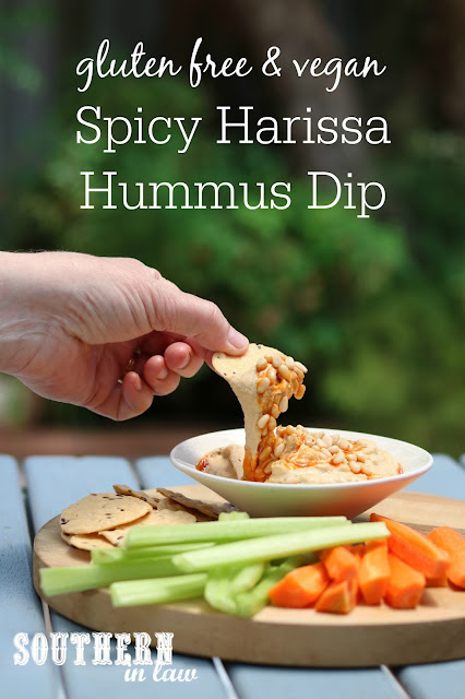 You will not be able to stop eating this Easy Harissa Hommus Recipe. Gluten free, vegan, grain free, dairy free, nut free, soy free, sugar free and a clean eating recipe
