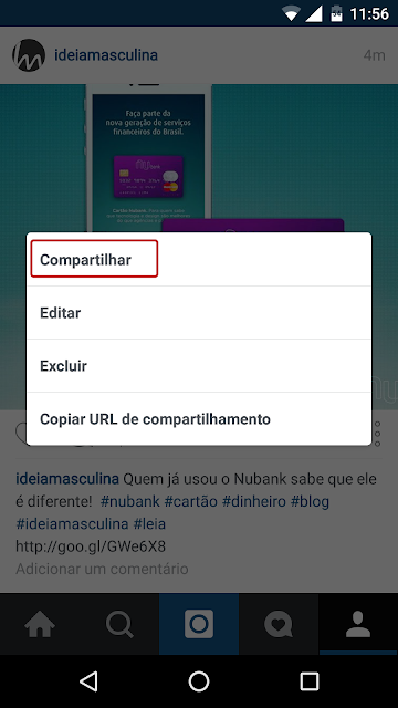 Como copiar links no aplicativo do instagram