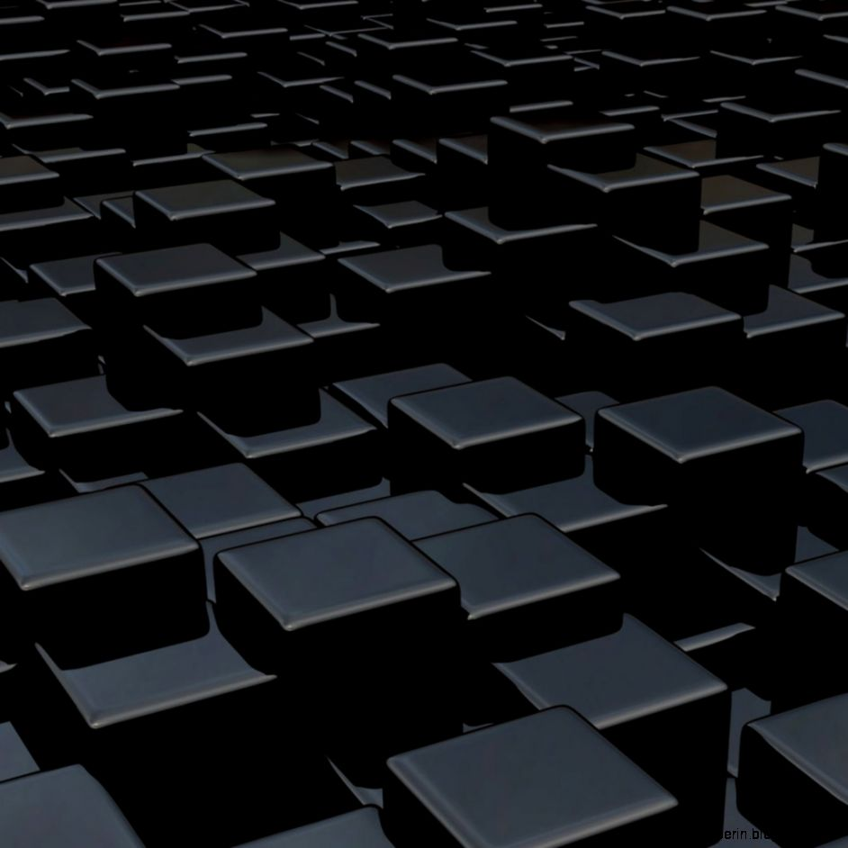 Black Wallpaper 3D Cubes