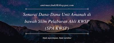 Senarai Dana-Dana Unit Amanah di bawah Skim Pelaburan Ahli KWSP