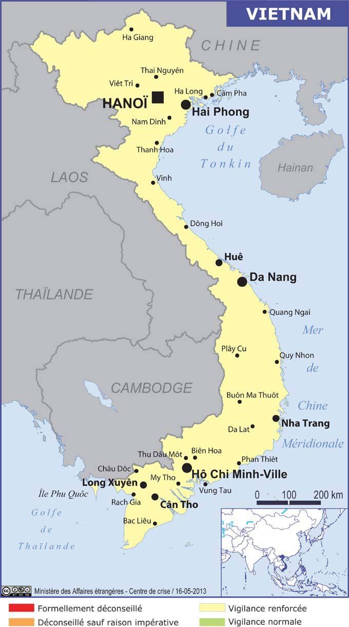 Circuit Vietnam: carte vietnam