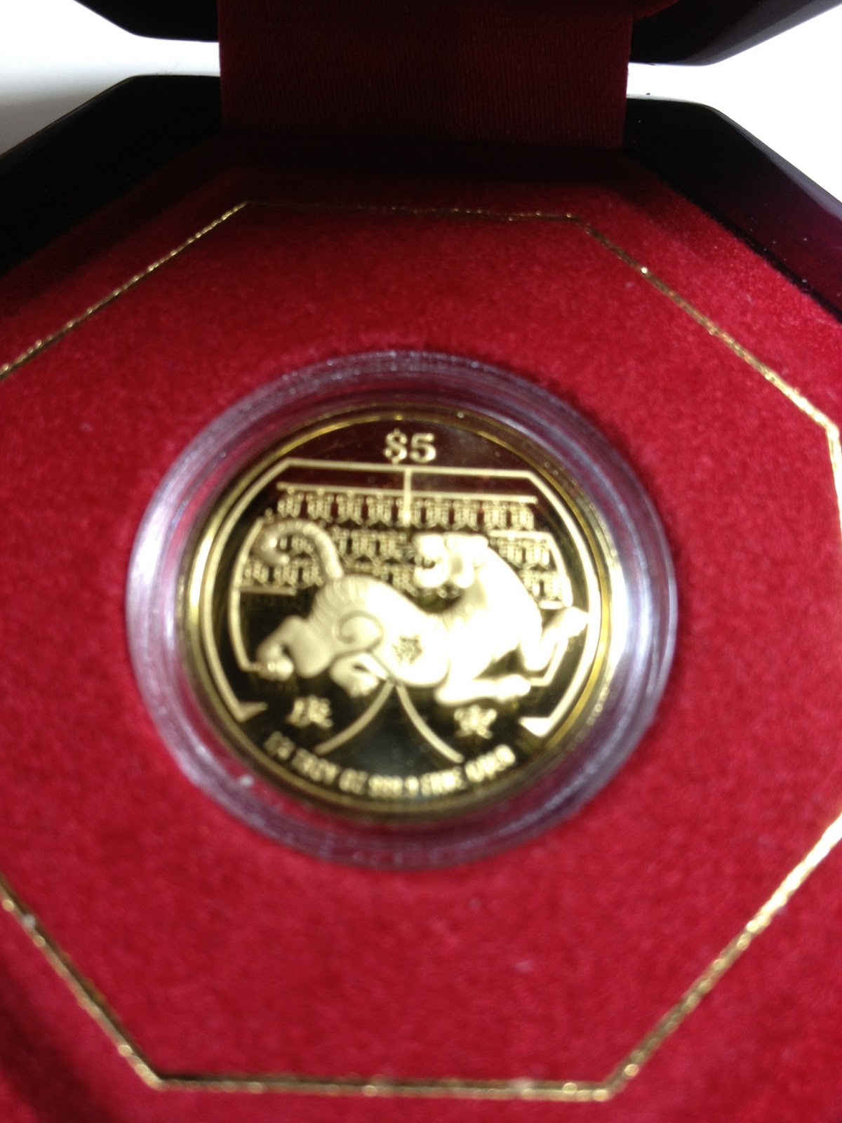 Coins Collection Singapore Gold Coins