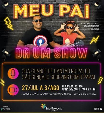O São Gonçalo Shopping vai reunir pais e filhos no palco para comemorar o  Dia dos Pais b7966f1201df9