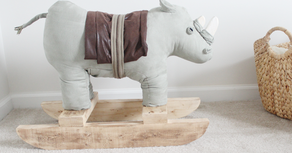 We Lived Happily Ever After Diy Rhino Rocking Horse Tutorial