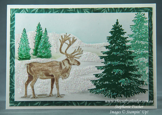 #thecraftythinker  #christmascard  #cardmaking #stampinup  #naturesings , Christmas Card, Nature Sings, Winter Woods, Stampin' Up Australia Demonstrator, Stephanie Fischer, Sydney NSW