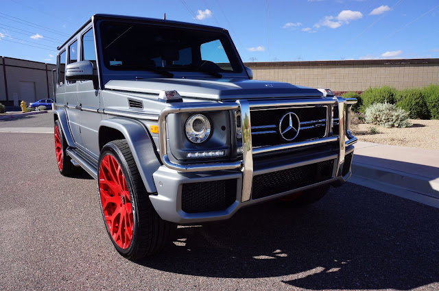 mercedes g63 red wheels