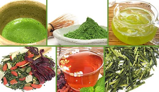 Japanese Green Teas, Sencha, Gyokuro, Uji Matcha, Mugwort Yomogi tea, Kampo Medicinal herb loose leaf teas
