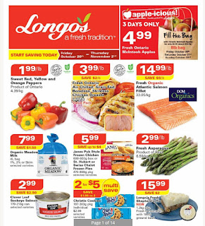 Longos Ontario Flyer October 20 - November 02, 2017