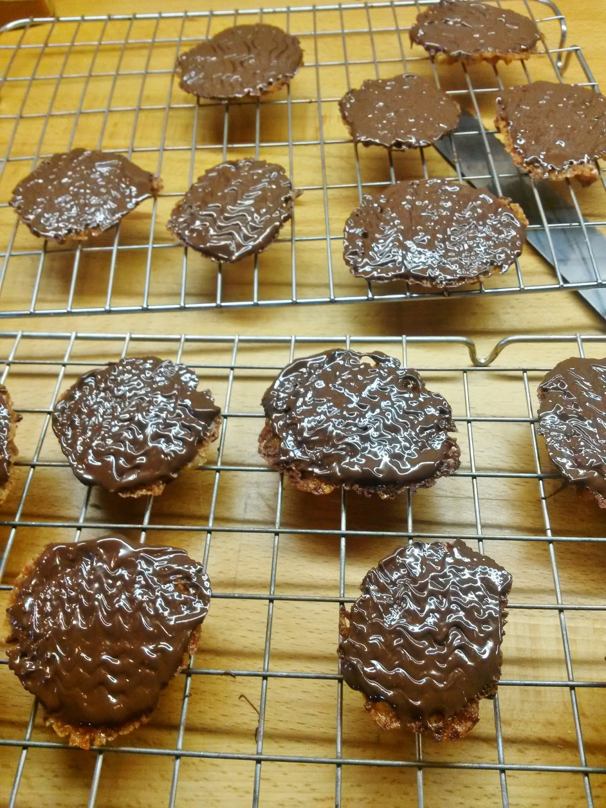 Homemade florentines, baking inspired by great british bake off