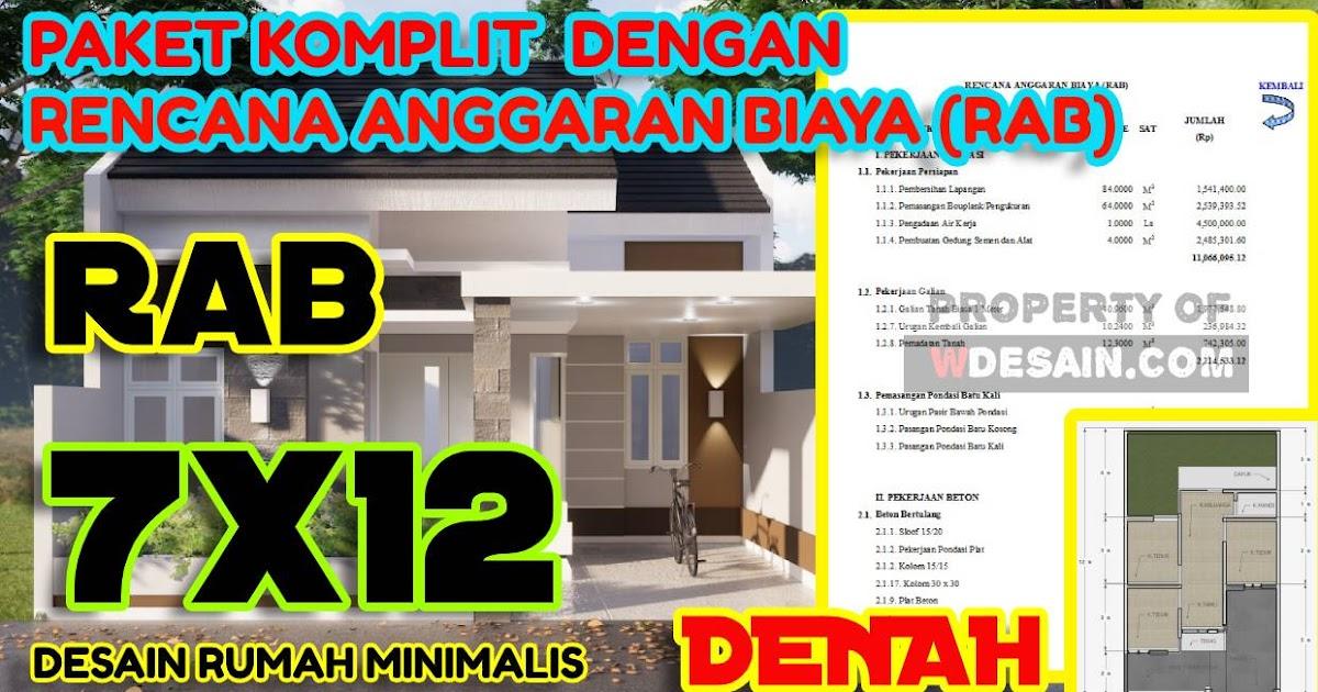 Desain Rumah Minimalis 3 Kamar 7x12 Komplit Dengan Rab Nya Desain Rumah Minimalis