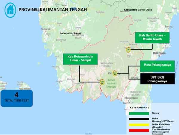 Lokasi Tes Cat BKN Propinsi Kalimantan Tengah
