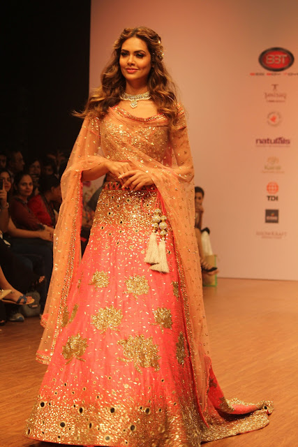 Isha Gupta in Yoshtita's Couture attire