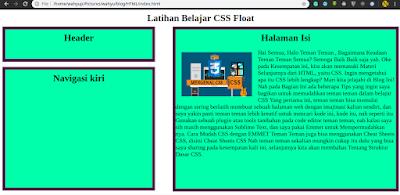 Float di CSS