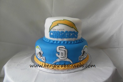 Beryl's Cakes: San Diego Chargers Cake
