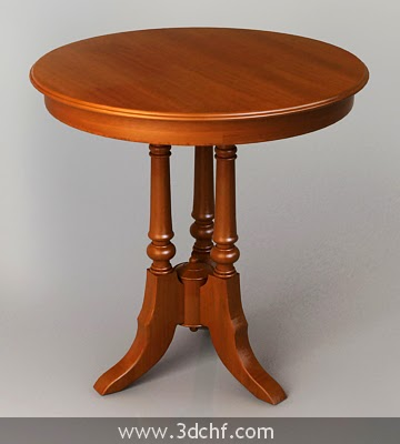 woody round table 3d model