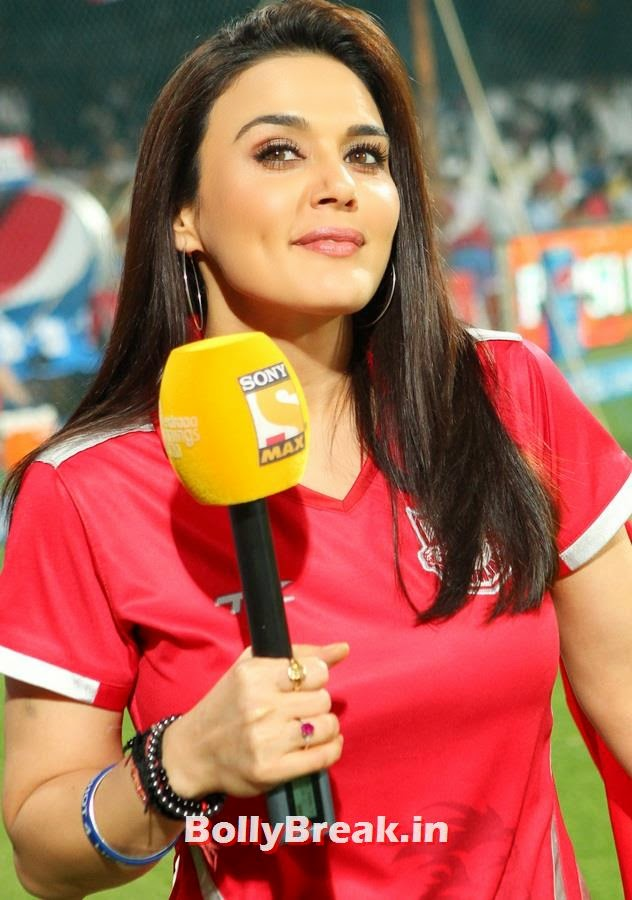 Preity Zinta before the final, Preity Zinta Different Moods - IPL 7