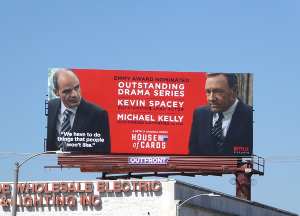 House of Cards season 3 Emmy 2015 billboard