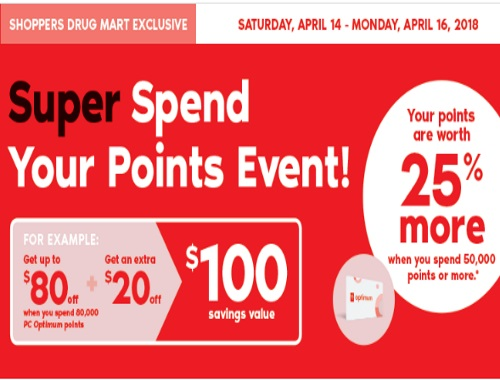 Shoppers Drug Mart Super Spend Your Points Event