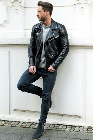 Jual Jaket Kulit Asli Garut Pria Domba Original Brida Leather M08 | WA 08813430588