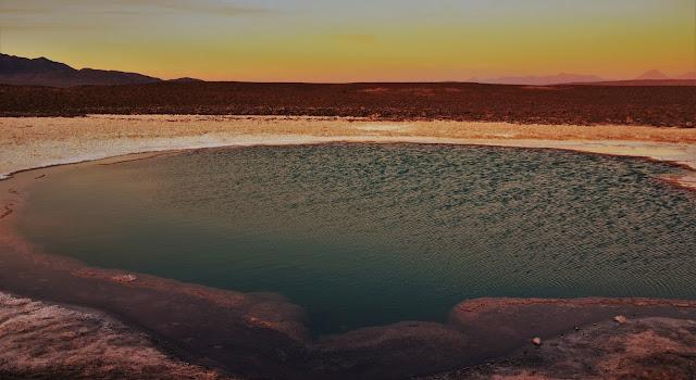 No pôr do sol - Lagunas Escondidas, Atacama